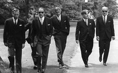 "Canadian Prime Minister Pierre Trudeau and his cabinet - These men knew how to wear a suit. 50 Classy People From The Past Who Remind Us What ""Cool"" Really Means! John Turner, Premier Ministre, Classy People, Reservoir Dogs, Justin Trudeau, Pm Trudeau, Raining Men, Costume, Brigitte Bardot"