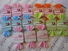 Glitter Candy Embellishments