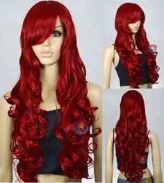 33 inch Heat Resistant All Color Curly Wavy Long Cosplay Wigs | eBay