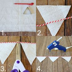 no sew Christmas bunting