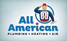 Vintage logo design for an HVAC contractor in CA. #logo #logos #design