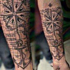 40 Cool Hipster Tattoo Ideas You'll Want to Steal – tatoo Map Tattoos, Forearm Tattoos, Body Art Tattoos, Sleeve Tattoos, Tatoos, Tattoo Arm, Ship Tattoo Sleeves, Rope Tattoo, Memory Tattoos