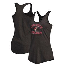 Arizona Coyotes Women's Overtime Racerback Tri-Blend Tank Top - Black - $29.99