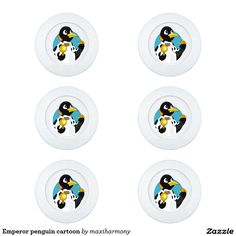 Emperor penguin cartoon pack of small button covers