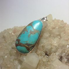 Turquoise pendant by TravellingRockShow on Etsy