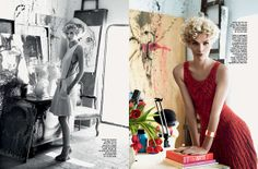 Playful Art Studio Editorials - The New InStyle Brazil Editorial Evokes an Artsy Mood (GALLERY)