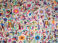 Super rare Otomi textile . Awesome fabric