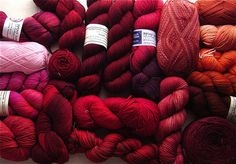 Coveting this sock yarn stash...