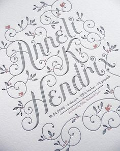Wedding announcement #letterpress #design #typography