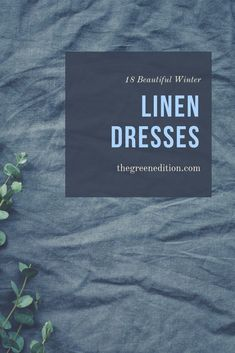 Winter linen dresses are as comfortable, breathable and beautiful as the summer variety. These are all made from heavier linen or can be layered for warmth. Sustainable Clothing, Sustainable Fashion, Sustainable Style, Sustainable Living, Ethical Clothing, Ethical Fashion, Understanding Women, Tights And Boots, Fashion Articles