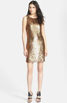 Trina Turk 'Fierce' Sequin Silk Shift Dress available at #Nordstrom
