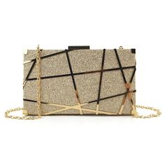Aelicy Luxury Gold Evening Bag Women Party Banquet Glitter Bag Wedding Clutches Minaudiere Chain Shoulder Bag Bolsas Mujer - Allied Mall - Source by Wedding Clutch, Wedding Bag, Gold Handbags, Purses And Handbags, Stylish Handbags, Sacs Design, Chain Shoulder Bag, Party Bags, Luxury Bags