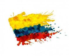 Illustration of Flag of Colombia made of colorful splashes vector art, clipart and stock vectors. Colombian Flag, Colombian Culture, Abstract Photography, Nature Photography, Graffiti, Flags Of The World, Cali Colombia, Creative Portraits, Vector Art