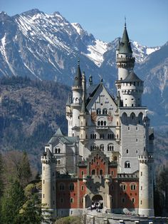 Neuschwanstein Castle.  I've actually toured this castle......after a very hot walk up the moutain to get there. lol