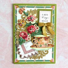 Tropical Christmas, Green Christmas, Christmas Cards, Anna Griffin Cards, July 24, Sweet Notes, Greeting Cards Handmade, Say Hello, Happy Friday