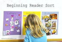 beginning reader sort (letters, words & pictures)