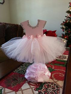 Pink TuTu Dress Centerpiece / Ballerina Baby by TheCarriageShoppe