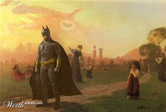 Batman in a famous painting i cant name