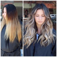 Correction: balayage, babylights and tone shift for a fresh look Grown Out Blonde Hair, Brown Blonde Hair, Going Blonde From Brunette, Pelo Color Ceniza, Brassy Hair, Hair Color And Cut, Blonde Balayage, Brown Balayage, Sombre Hair