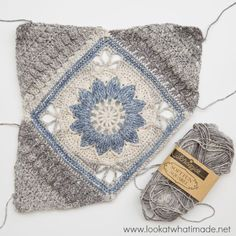A New Large Crochet Square in a Brand New Yarn!