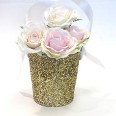 Flower Girl Baskets in Gold Glitter!