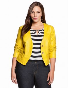 pictures of plus sized blazers | Faux Leather Blazer | Plus Size Jackets & ... | Plus Size Goodness/ F ...