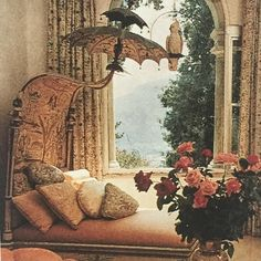 """Mona Bismarck's Venetian Bed. photo: Robert Emmett Bright published in Blood Sweat and Tears by #bruceweber @charmossny"""
