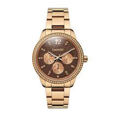 Γυναικείο μοντέρνο αδιάβροχo ρολόι BREEZE Flair-Play 2105516 με καφέ-ροζ  καντράν και ροζ cc69cf2c356