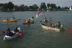 Battle of Lake Erie Re-kayak-tment