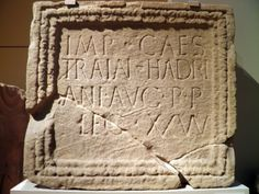 """Building Inscription, Roman Britain, British Museum, via Flickr. """"found at the fort of Moresby"""""""