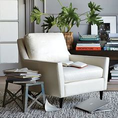 Everett Leather Chair #WestElm