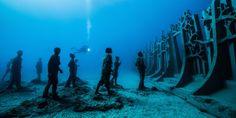 Take A Swim On The Artsy Side At Spain's New Underwater Museum - ELLEDecor.com