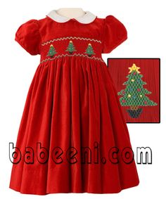Red smocked dress for X-mas : This smocked dress is very impressive in red plain… Smocked Baby Dresses, Little Girl Dresses, Girls Dresses, Smocked Clothing, Baby Girl Christmas Dresses, Kids Christmas Outfits, Christmas Clothes, Smocking Patterns, Smocking Plates