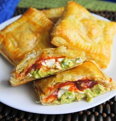 Avocado, Cream Cheese, and Salsa Pockets.