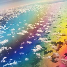 Strange rainbow colours somewhere over the Great Lakes.  #rainbow #colours #colors #greatlakes #usa #flight #flying #airplane #clouds #sunset #weird #airplanewindow #view #travelphotography #travel #igtravel #fb #weirdlights #nubes #igrainbow #frommyairplanewindow #overtheclouds #waterrainbow #flyinghigh #upupandaway #uphigh #upintheair #passionpassport #lonelyplanet #discoverearth