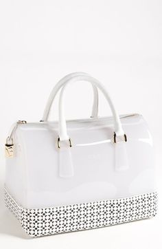 Furla 'Candy - Saffiano Geo' Rubber Satchel available at Nordstrom, probably the only Rubber bag I like