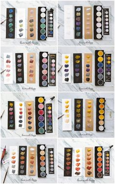 These magically shimmery mica paints dance on paper. I created sample palettes (on three types of paper!) to compare eight of the Pearlcolors Sets. Watercolor Pallet, Prima Watercolor, Watercolor Pencils, Watercolour Painting, Gold Watercolor, Dot Painting, Watercolours, Finetec Watercolor, Art Supplies Storage