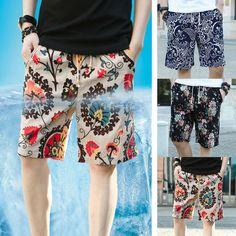1a415b7f Colored Men's Floral Printed HOT Shorts Summer Beach Hawaii Baggy Shorts  Pants #fashion #clothing