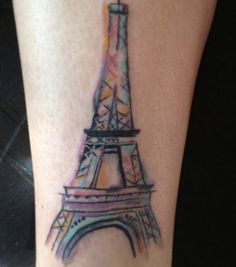 #watercolortattoo #eiffeltower #eiffeltowertattoo