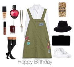 """""""Happy Birthday"""" by pao-verratti ❤ liked on Polyvore featuring beauty, Yves Saint Laurent, Zara, NIKE, Smashbox, Maison Michel, John Lewis, Paco Rabanne, NYX and Givenchy"""