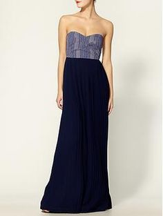 jacquard corset maxi dress by sabine