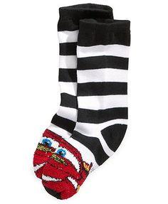 Disney Kids Socks, Boys or Little Boys Striped Shorty Cars Fuzzy Socks