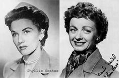 Phyllis Coates (the second actor to play Lois Lane. She played Lois Lane in season one of the 1952 TV series) & Noel Neill who first played Lois Lane in Republic serials Superman and Superman vs Atom Man. From 1953 - 1958 she played Lois Lane in the TV series Adventures of Superman taking Phyllis Coates place.