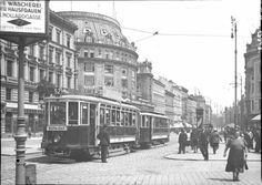 Vienna Mariahilfer Strasse 1930s Scenery Pictures, Funny Pictures, Book Aesthetic, World Cities, Back In Time, Public Transport, Time Travel, Hungary, Old World