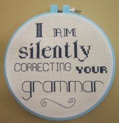I cannot do cross stitch, or needlework of any kind.  But I want this.  @Kiki Nystrom