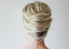 this is such a beautiful, not overly structured updo - ideal hair for a beach wedding