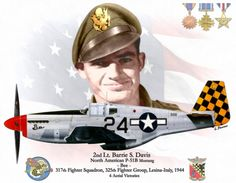 2nd Lt. Barrie S. Davis North American P-51 Mustang BFD