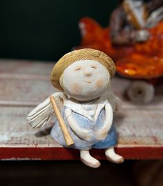 Slab Pottery, Ceramic Pottery, Ceramic Art, Angel Crafts, Xmas Crafts, Paper Clay, Clay Art, Pottery Angels, Clay Angel