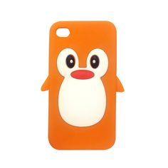 Cute Penguin iPhone 4 / 4S Case (orange).  Buy now for only $14.99!