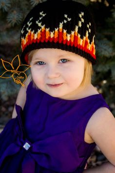MNE Crafts: Girl on Fire Graph Hat